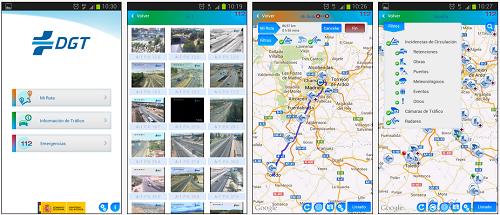 Imágenes de la App de la DGT